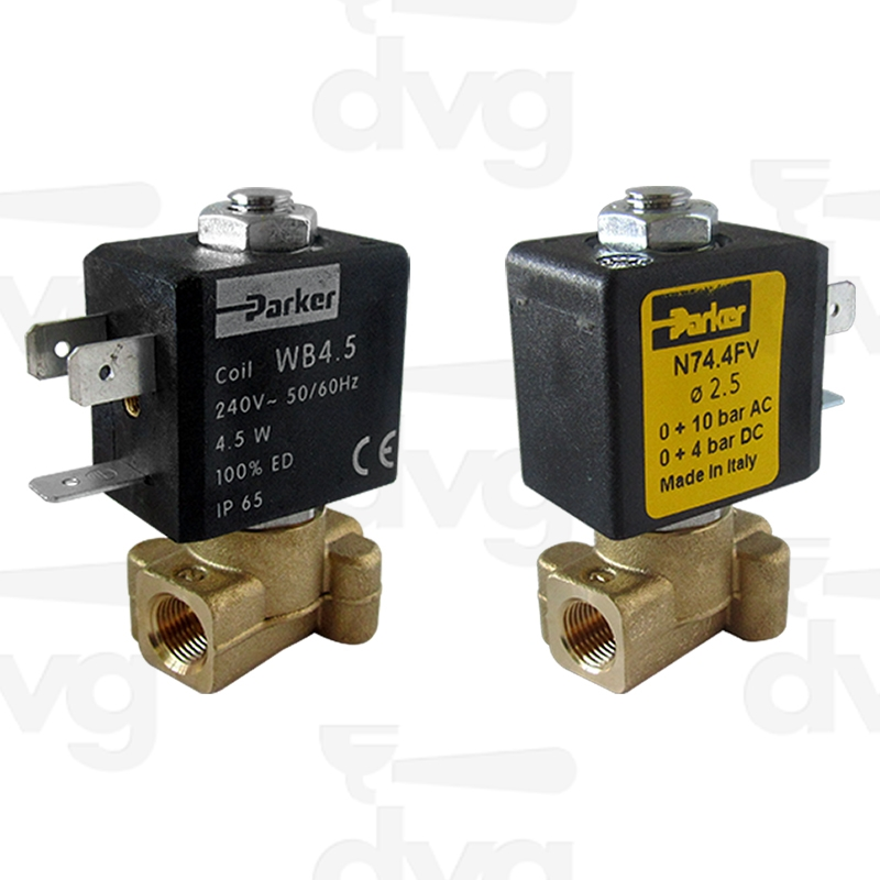 PARKER 2 WAYS SOLENOID VALVE 1/8 1/8 240V 50/60HZ D2,5 VITON ...