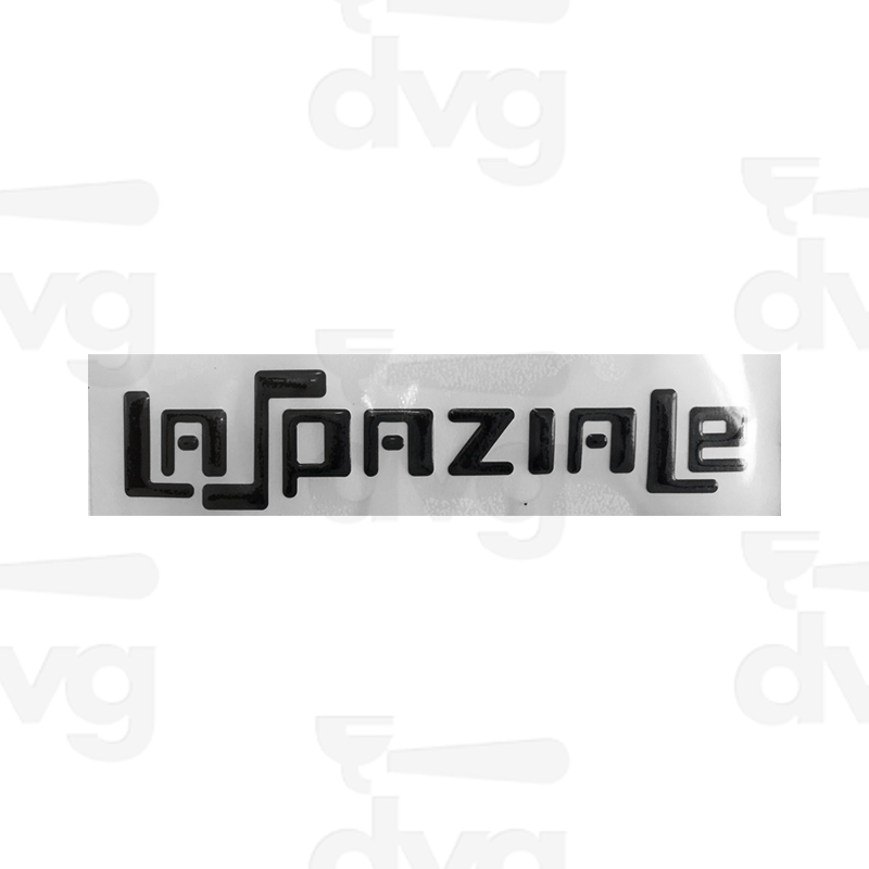 La Spaziale Black Adhesive Label Spare Parts Coffee